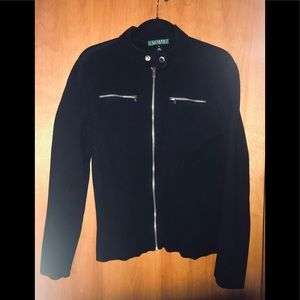 Motorcycle Style cardigan Sweater Ralph Lauren